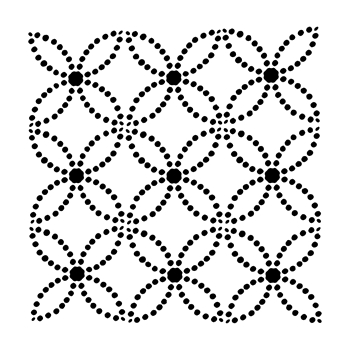 The Crafter's Workshop SMALL DOTTED RINGS 6x6 Template tcw851s