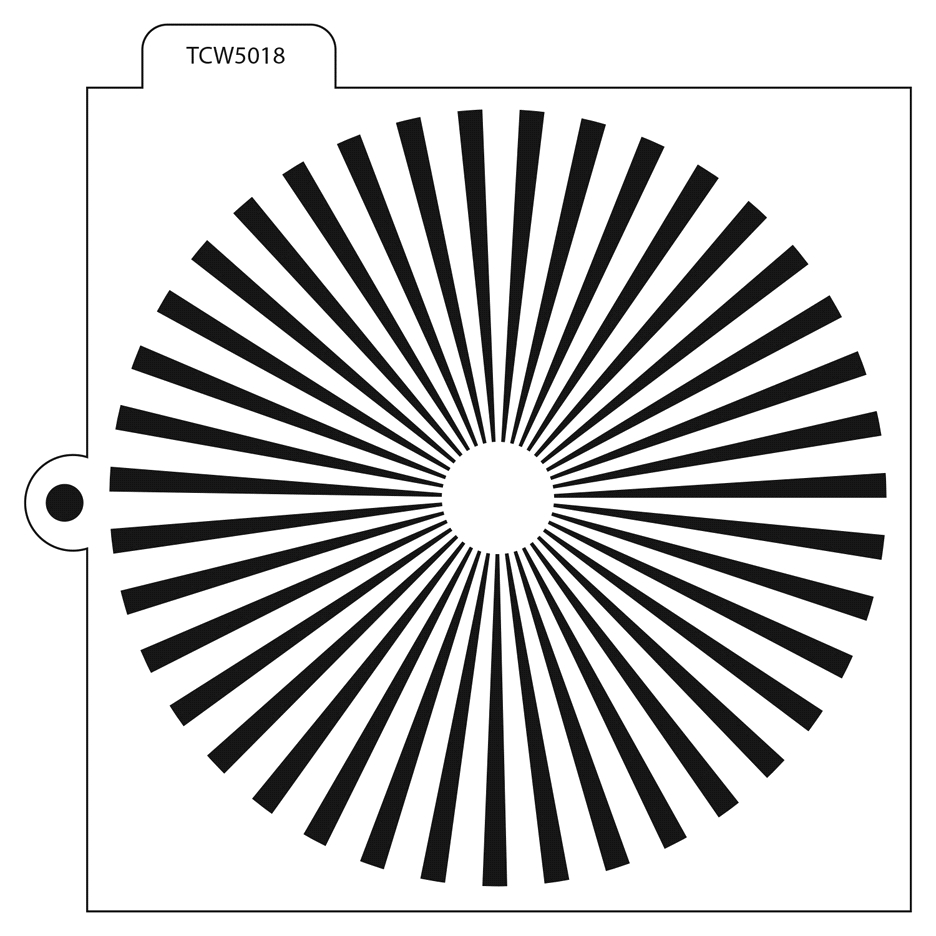 The Crafter's Workshop SUNBURST Cookie Template tcw5018 zoom image