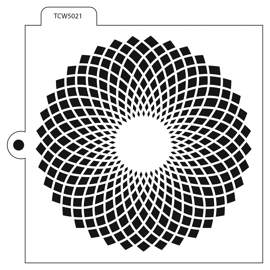 The Crafter's Workshop FAN FLOWER Cookie Template tcw5021 zoom image