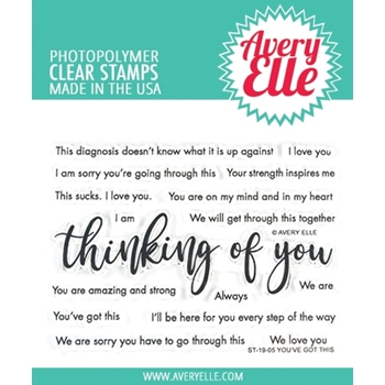Avery Elle Clear Stamps YOU'VE GOT THIS ST-19-05