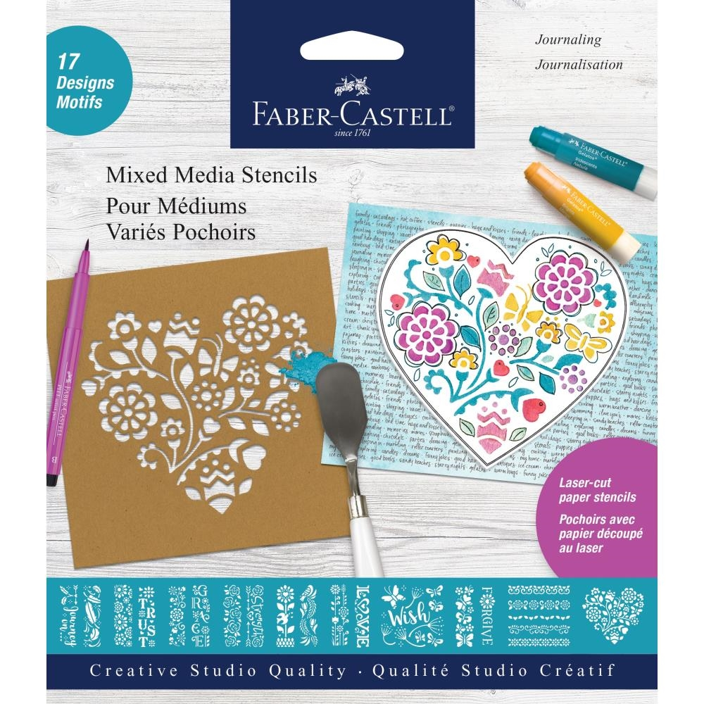 Faber-Castell JOURNALING Stencil Set 770611 zoom image