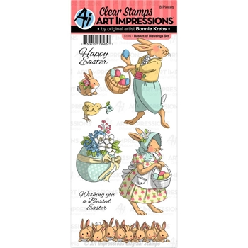 Art Impressions BASKET OF BLESSINGS Clear Stamps 5116*