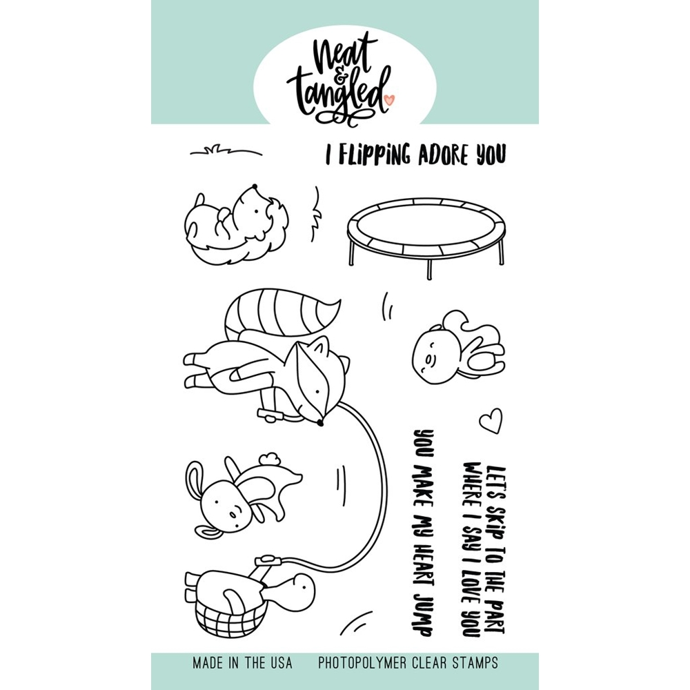 Neat and Tangled JUMP FOR JOY Clear Stamps NAT454 zoom image