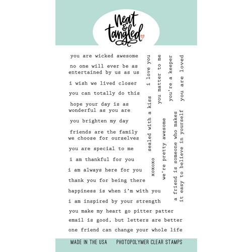 Neat and Tangled TYPED SENTIMENTS Clear Stamps NAT460 Preview Image