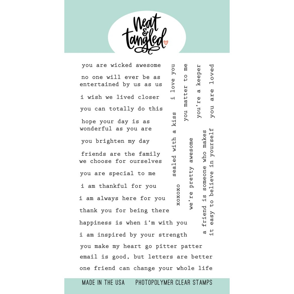 Neat and Tangled TYPED SENTIMENTS Clear Stamps NAT460 zoom image