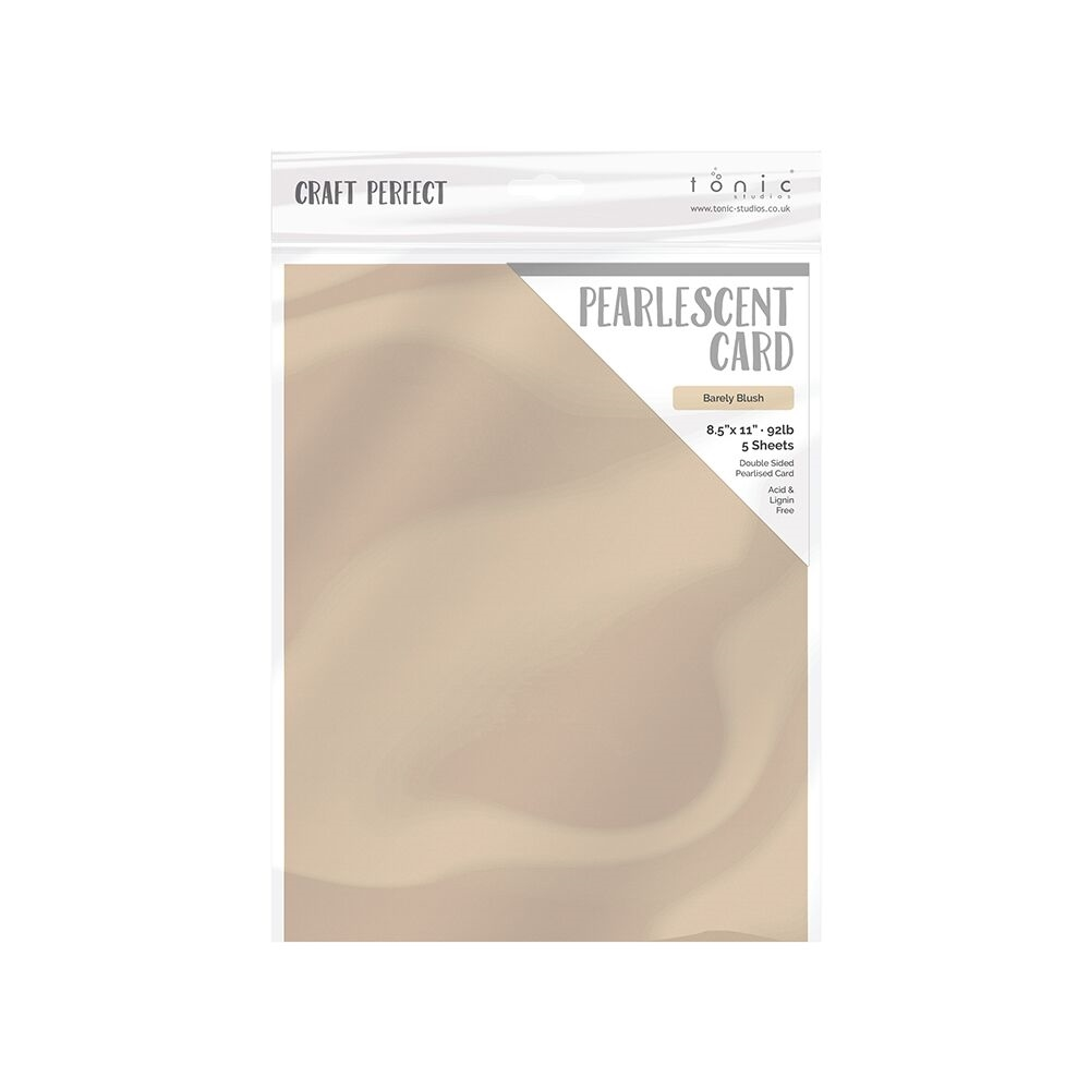 Tonic BARELY BLUSH Pearlescent Cardstock 9543e zoom image