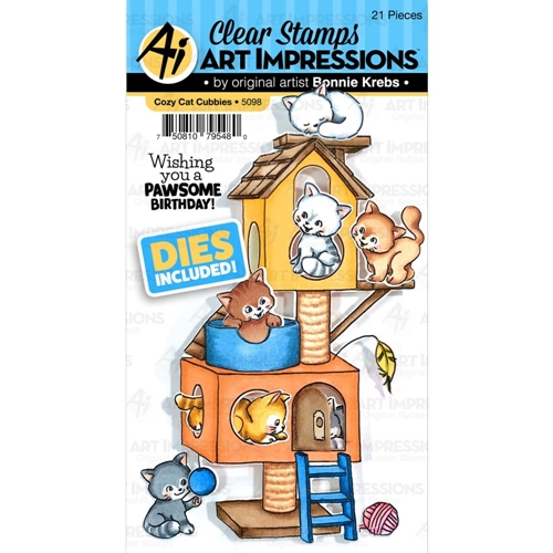 Art Impressions COZY CAT CUBBIES Clear Stamps and Dies 5098 Preview Image