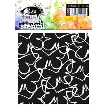 Visible Image ENTWINED BUTTERFLIES Stencil VIS-ENB-03