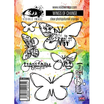 Visible Image WINGS OF CHANGE Clear Stamps VIS-WOC-01