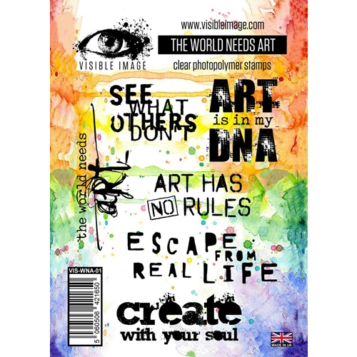 Visible Image THE WORLD NEEDS ART Clear Stamps VIS-WNA-01 Preview Image