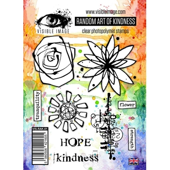 Visible Image RANDOM ART OF KINDNESS Clear Stamps VIS-RAK-01*
