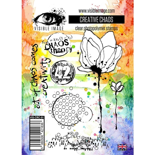 inky | flower | stamp | mixed media | background | elements