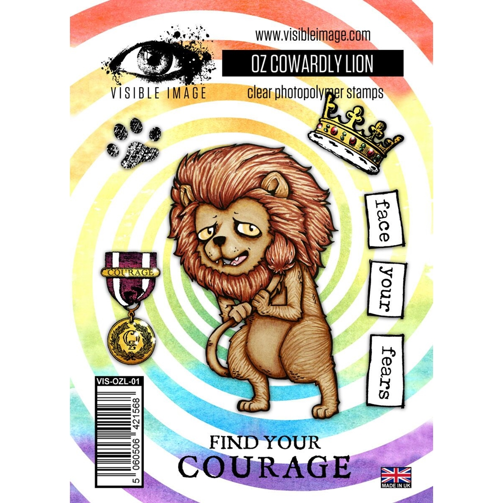Visible Image OZ COWARDLY LION Clear Stamps VIS-OZL-01 zoom image