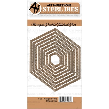 Art Impressions HEXAGON DOUBLE STITCHED Dies 5135*