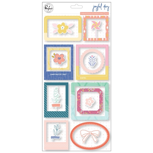 Pinkfresh Studio JOYFUL DAY Chipboard Frames And Accent Stickers pfrc200819 Preview Image