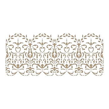 GLP-128 Spellbinders LACE FRIPPERY Glimmer Hot Foil Plate