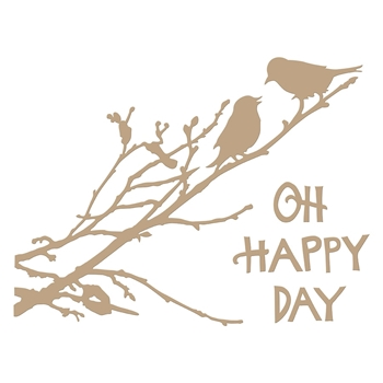 GLP-095 Spellbinders OH HAPPY DAY Glimmer Hot Foil Plate