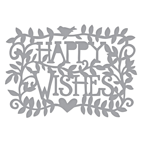 S3-374 Spellbinders HAPPY WISHES Etched Dies * Preview Image