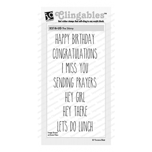 Impression Obsession Cling Stamps THE SKINNY 3216-LG* Preview Image