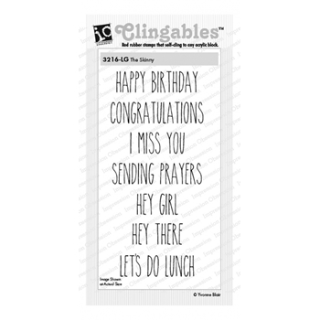 Impression Obsession Cling Stamps THE SKINNY 3216-LG*