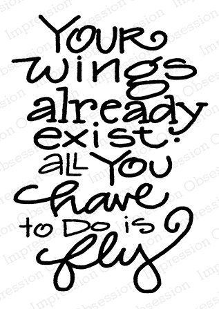 Impression Obsession Cling Stamp FLY D21180 Preview Image