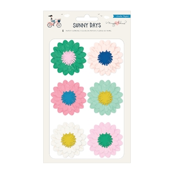 Crate Paper SUNNY DAYS Paper Flowers 350812