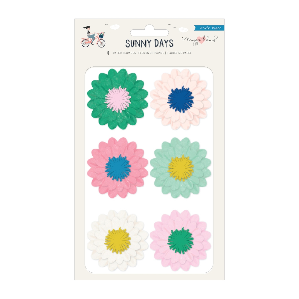 Crate Paper SUNNY DAYS Paper Flowers 350812 zoom image