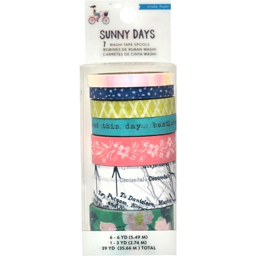 Crate Paper SUNNY DAYS Washi Tape Set 350809 Preview Image