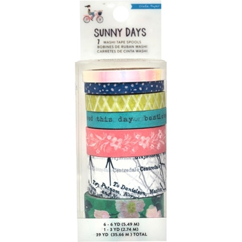 Crate Paper SUNNY DAYS Washi Tape Set 350809