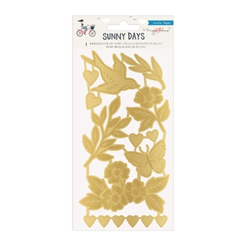 Crate Paper SUNNY DAYS Embossed Die Cuts 350804
