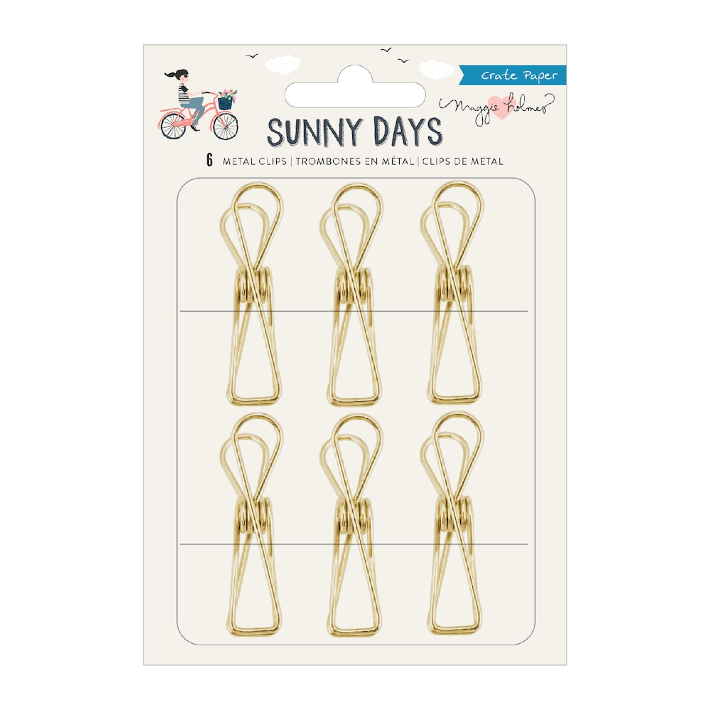 Crate Paper SUNNY DAYS Metal Clips 350814 zoom image