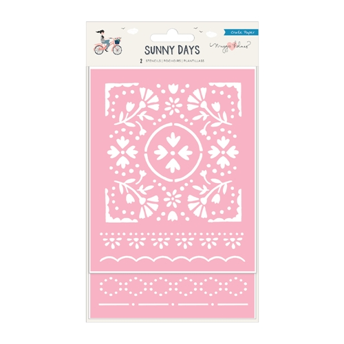 Crate Paper SUNNY DAYS Die Cut Stencils 350817 Preview Image