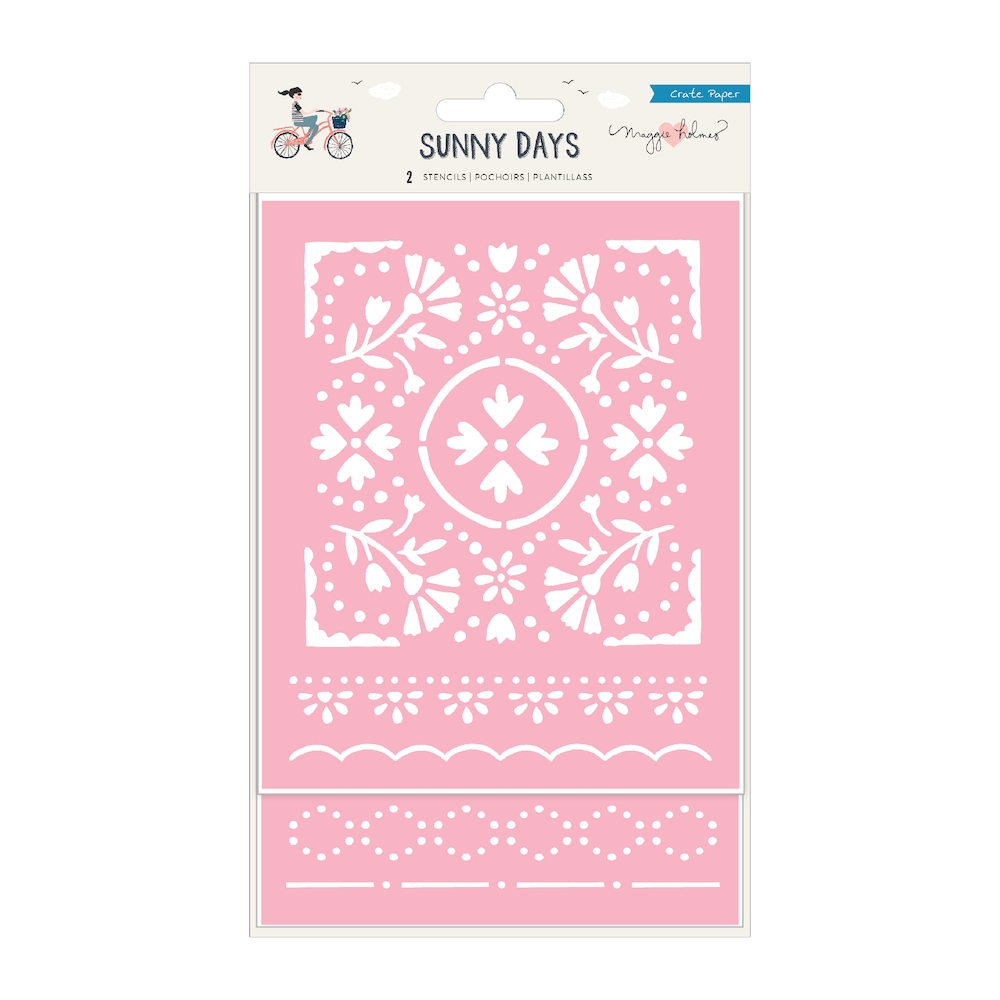 Crate Paper SUNNY DAYS Die Cut Stencils 350817 zoom image