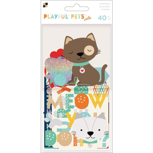 DCWV PLAYFUL PETS CATS Ephemera Die Cuts 615094 Preview Image