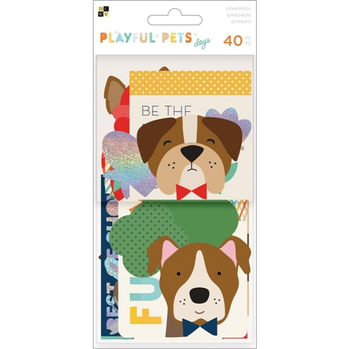 DCWV PLAYFUL PETS DOGS Ephemera Die Cuts 614906 Preview Image