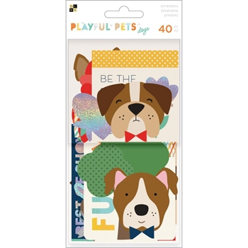 DCWV PLAYFUL PETS DOGS Ephemera Die Cuts 614906