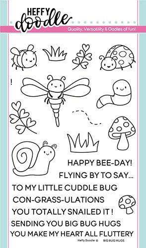 Heffy Doodle BIG BUG HUGS Clear Stamps hfd0110 Preview Image