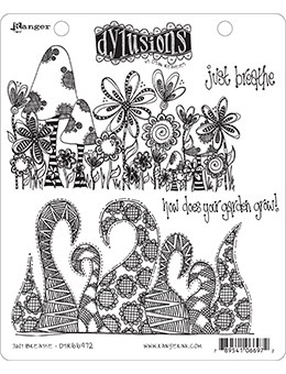 Dyan Reaveley JUST BREATHE Cling Stamp Set Dylusions DYR66972 zoom image