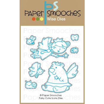 Paper Smooches FAIRY CUTE ICONS Wise Dies J1D427