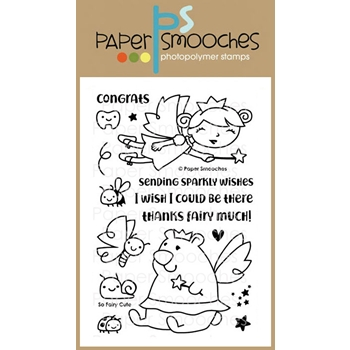 Paper Smooches SO FAIRY CUTE Clear Stamps FBS302