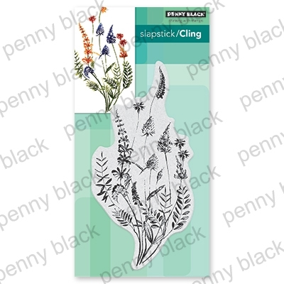 Penny Black Cling Stamp A FLORAL TWIST 40-676 zoom image