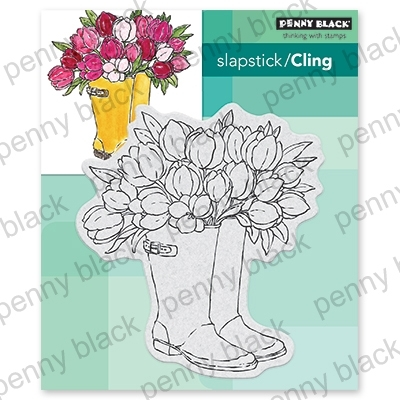 Penny Black Cling Stamp BLOOMING BOOTS 40-666 zoom image
