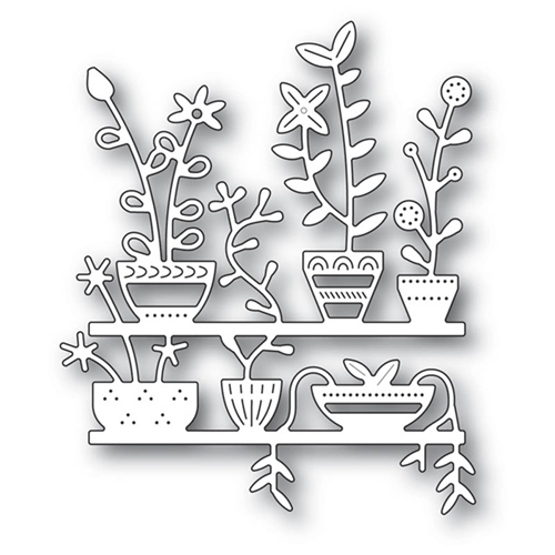 Poppy Stamps SPRING POTS SHELVES Craft Die 2174 Preview Image