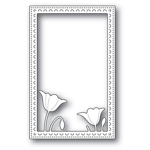 Poppy Stamps GARDEN POPPY STITCHED FRAME Craft Die 2178 Preview Image