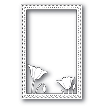 Poppy Stamps GARDEN POPPY STITCHED FRAME Craft Die 2178