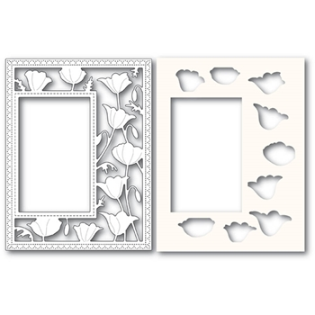Poppy Stamps GARDEN POPPY SIDEKICK FRAME Craft Dies and Stencil 2179