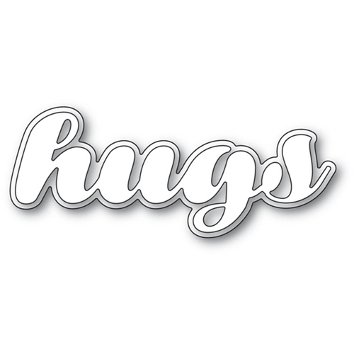 Poppy Stamps LUSCIOUS SCRIPT HUGS Craft Dies 2196 Preview Image