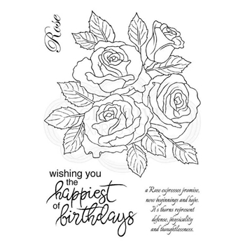 Woodware Craft Collection CLASSIC ROSE BUNCH Clear Stamps jgs656