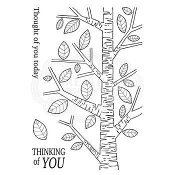 Woodware Craft Collection SILVER BIRCH TREE Clear Stamps jgs659
