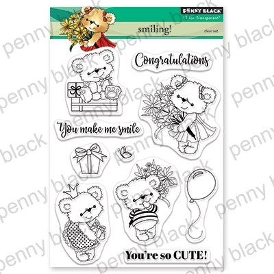Penny Black Clear Stamps SMILING 30-546 zoom image
